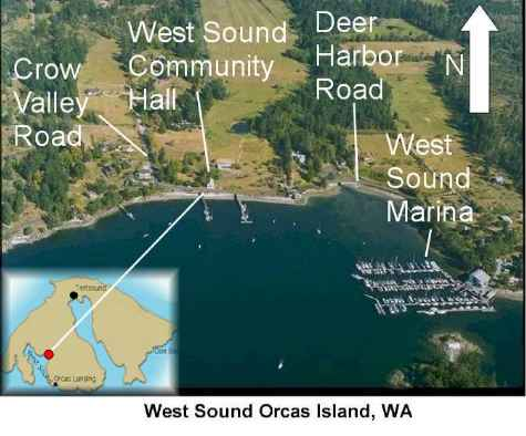 Westsound Hall and Docks location